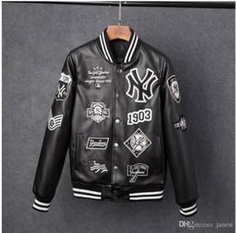 2020 Art und Weise der neuen heißen Männer Jacken Marke Caual Mens new york PU Mantel Art und Weise Hip Hop Stickerei Baseball NY Jacke Sweatshirts