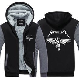 Kış hoody Metallica rock grubu Erkek kadın Kalınlaşmak sonbahar Hoodies giysi tişörtü Fermuar ceket polar hoodie streetwear nereden