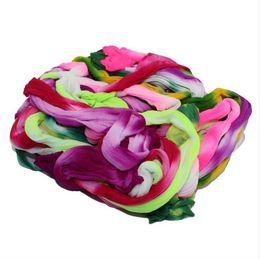 Fare fiori di calze online-Nylon del fiore della calza multicolore 10 doppi colori DIY che fanno accessori accessori da sposa di trasporto 30pcs / lot