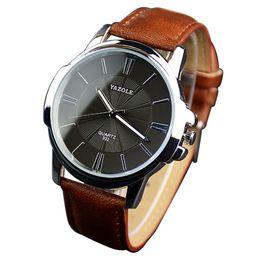 2019 Business Top Marca Formal Man Watch Couro Quartz Relógio Moderno Fresco Mens Relógios de Pulso Erkek Saatleri Dropshipping cheap formal watches de Fornecedores de relógios mens