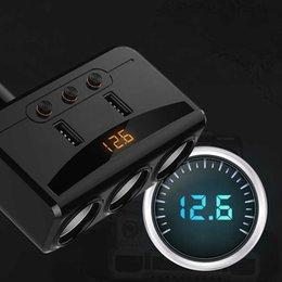 adaptador de mechero bluetooth Rebajas Coche Bluetooth Car One Minute Tres de mechero Cargador 2USB Una Drag adaptador de tres 2USB