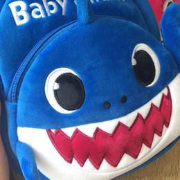 Wholesale 2019 New Cartoon Baby Shark Sacchetto di scuola per bambini Bambini carino peluche scuola zaino Shark Baby Blue Rose giallo colore ragazzi Schoolbag