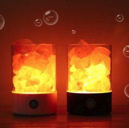 Canada Drop Ship Epack USB Crystal Light lampe de sel de l'Himalaya naturel led Lampe Purificateur d'Air Mood Creator Intérieur lumière chaude table lampe de lave chambre supplier crystal drop light Offre