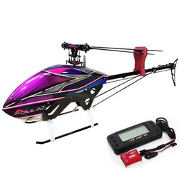 toy 3d helicopter Coupons - New Arrivals KDS AGILE A7 6CH 1370mm 3D Flybarless 700 Class RC Helicopter Kit & EBAR V2 Gyro Remote Control Toys