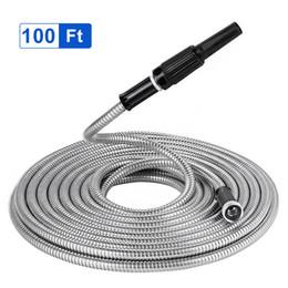 Resistente flessibile leggera del tubo flessibile dell'acqua del giardino del metallo dell'acciaio inossidabile da 100 Ft da