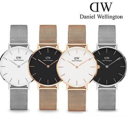 watch girls strip Coupons - new trend Girls Steel strip Daniel Wellington watches 32mm women watches Luxury Quartz Watch DW Clock Relogio Feminino Montre Femme