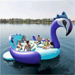 Grande flamingo flutuador on-line-tamanho 5M Swim Pool inflável gigante Unicorn Partido Bird Island Big barco unicórnio gigante flamingo flutuador Flamingo Island por RRA3252 6-8person