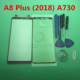 2019 samsung a8 A8 + A + замена качества оригинальный новый ЖК-передний сенсорный экран внешний стеклянный объектив для Samsung Galaxy A8 plus 2018 A730 A730f + инструмент дешево samsung a8