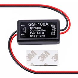 circuito led Rebajas GS-100A Flash Flasher Controller Flasher Module para coche LED Lámpara de luz de parada de freno 12--24V Protección contra cortocircuitos a prueba de agua