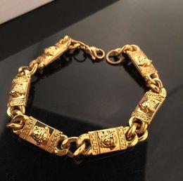 platin überzogene armband smaragde Rabatt Gold überzogene Edelstahl-Armbänder kurbeln kubanische Kettenmode-Art- und Weisemänner-Designer-Armband-Schmucksachen an Freies Verschiffen