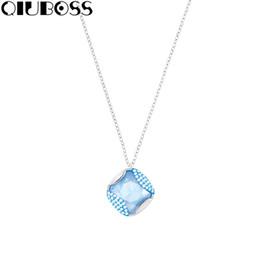 Zarte schlüsselbeinhalskette online-QIUBOSS New Necklace Damen Elegante und zarte Schlüsselbeinkette Blau 5285267 Schlüsselbeinkette Weibliches Ornament Fashion Design