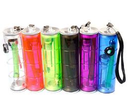 petite conduite d'eau acrylique Promotion Gros coloré petit plastique protable en plastique eau bong pipe shisha acrylique narguilé pipe à la main pour fumer tabac tabac pipe à herbes sèches
