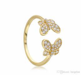 toque para homens ct Desconto 2019 Primavera 925 Anéis de Prata Esterlina Anel de borboleta de Ouro Original de Noivado Da Moda anéis de Casamento Pandora DIY Encantos Jóias Para mulheres