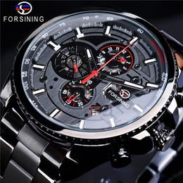 relógio da semana Desconto FORSINING Marca de Luxo Relógios Homens de Aço Inoxidável Mecânico Automático Auto Vento Calendário Relógios de Pulso Data Semana Mês SLZe168