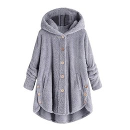 6a49ab1a284 Thickened Loose Cardigan Winter Button Hoodie Coat 2019 Women Slim Fit Faux  Fur Long Sleeve Plus size 5XL Warm Jacket Outwear