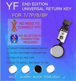 2019 iphone flex sensor original YF End Edition Universal Home Button Flexkabel Ersatz mit voller Funktion, außer Touch ID für Apple iPhone 7 7plus 8 8plus DHL-frei