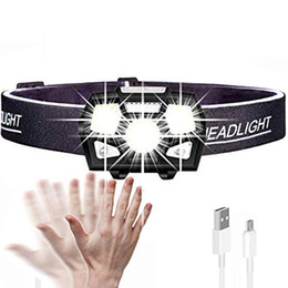 rechargeable headlamp red Coupons - BRELONG LED headlight flashlight, red light, USB rechargeable motion sensor for running, hiking, camping and children