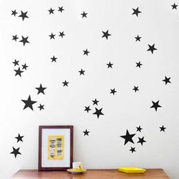 2019 arte de pared de plástico de mariposa Modelo de estrellas de oro vinilo arte de la pared del sitio del cuarto Adhesivos de vinilo decorativo de pared para cuartos de los niños Decoración del hogar