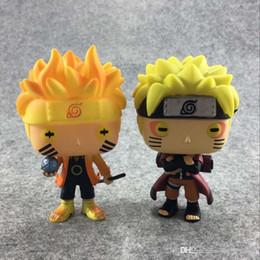 Animazione delle figure di azione online-Funko Pop Animation: Naruto - Naruto Six Path / Sage Mode Action figure in vinile con scatola giocattolo giocattolo # 185 / # 186 regalo