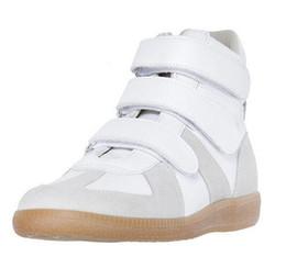 zapatillas margiela Rebajas Colorido de alta calidad Maison Martin Margiela High Top Sneaker hombre Zapatos Hombre Zapatos planos Zapatillas Zapatillas Kanye West Zapatos casuales 38-46 m9