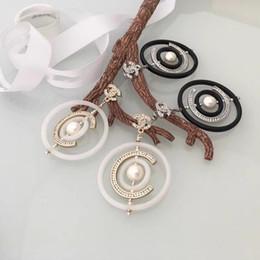 Grande boîte femelle en Ligne-grand cercle perle goutte boucles d'oreilles nouvelle avec boîte de luxe féminin féminin goutte d'oreille avec boîte livraison gratuite