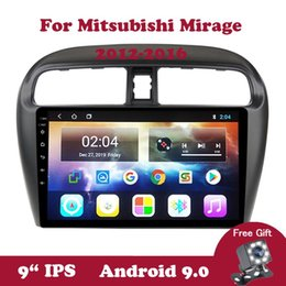 "android dvd navi Скидка Android 9 Auto Авторадио Car Radio для Mitsubishi Mirage 2012 2013 2014 2020 2020 GPS Navi 2.5D 9"" IPS DVD Video Player BT OBD2 автомобиля DVD"