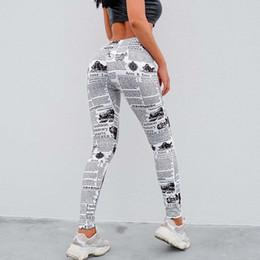 Argentina 2019 Periódico Imprimir Leggings Mujeres Pantalones de Yoga Cintura alta Gimnasio Ropa deportiva Ropa de moda para niñas Entrenamiento Correr Pantalones de entrenamiento Suministro