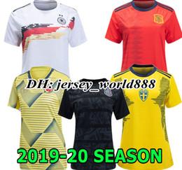 84d5ce5200f63 BRAZILSL GERMANYL Colombie 2019 Coupe du Monde Femmes Mexique Away maillot  de football à domicile l espagne de football maillot femmes pas cher