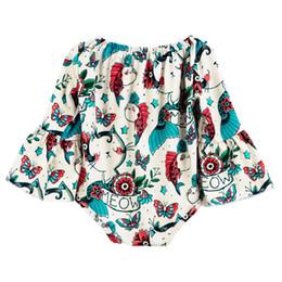 2019 ropa mori Chica Jumpsuit Manga larga Poliéster Estampado de animales Mezcla de color Ropa de arrastre Mori Style Crawling Ropa En stock 50 ropa mori baratos