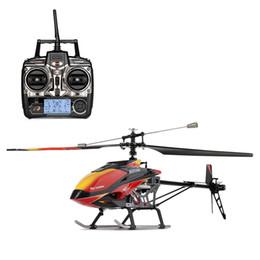 Helicópteros wltoys online-Wltoys V913 Motor sin escobillas RC Helicóptero 2.4G 4CH Sola Hoja Incorporada Gyro Super Estable Vuelo Helicópteros RC de alta eficiencia
