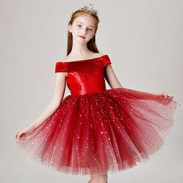 new kids evening gown Promo Codes - New Kids Flower Girl Dresses Children Pageant Evening Gowns Beading Lace Mesh Ball Gowns Wedding First Communion Dresses