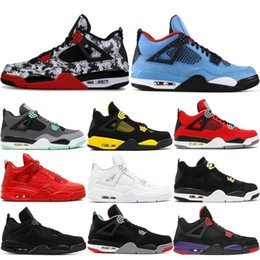 best low cut basketball shoes Coupons - Mens 4 4s Basketball Shoes Cactus Jack White Cement Game Royal Motor Best Quality Mens Sport Sneakers Designer Shoes US 7-13