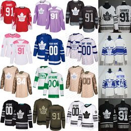 Manning della maglia delle donne online-Uomo Womens Youth S-6XL / Custom 91 Tavares 34 Matthews 16 Mitch Marner William Nylander St. Pats All Stars Toronto Maple Leafs Hockey Jersey