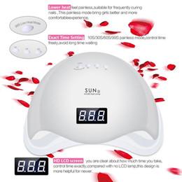 2019 configuración de la secadora SUN5 48W UV LED Lámpara de uñas Secador de uñas Sensor de infrarrojos Modo sin dolor Modo de manicura