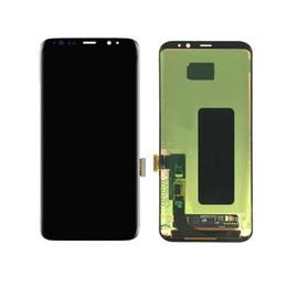 samsung e7 lcd Rebajas 5 piezas de pantalla original OEM para Samsung Galaxy S8 Reemplazo de la pantalla LCD Touch Digitalizer Assembly S8 Plus LCD sin marco