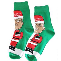 2019 niños guantes amarillos Donald Trump Calcetines de Navidad Presidencial estadounidense Divertido Creativo Algodón Calcetines verdes Niños Hombres Mujeres Medias