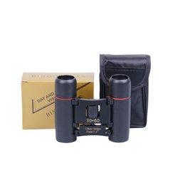 Optique de nuit en Ligne-Jumelles Sakura de poche, Télescope binoculaire à zoom optique 30 x 60 Zoom, mini-jumelles couleur noire Jumelles à vision nocturne repliable
