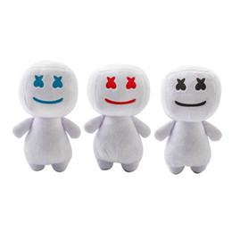 25CM New syllable cotton candy DJ headset marshmello peluche bambola regalo di Halloween 3 colori per bambini giocattoli da