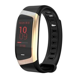 record tracks Promo Codes - E18 Smart Color Screen Bracelet IP67 Waterproof Blood Pressure Blood Oxygen Heart Rate Monitor Sports Fitness Track Record