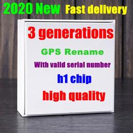 2019 boîte d'oreille couleur iphone écouteurs Tws Gen3 puce 1536 charge sans fil puce H1 Bluetooth casque écouteurs écouteurs pop-up SiRi Bouton Touchant de commande Renommer GPS