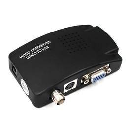 cámara vga pc Rebajas Switch Box BNC a VGA Convertidor Compuesto S-VIDEO a VGA convertidor de vídeo de salida VGA adaptador digital para PC MACTV DVR de la cámara DVD