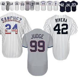 2019 novas Camisolas de beisebol Yankees de York 42 Camisolas de Mariano Rivera 7 Manto 99 Juiz 3 Babe Ruth Bordado de alta qualidade supplier mantle jersey de Fornecedores de camisa de manto