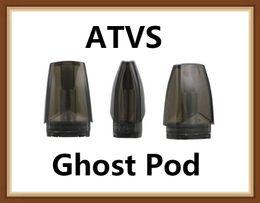 Authentique ATVS Ghost Cart Cartouche 1.5ml Pods Avec 1.5ohm Bobine En Céramique Pour Ghost Kit Cigarette Électronique DHL Gratuit ? partir de fabricateur