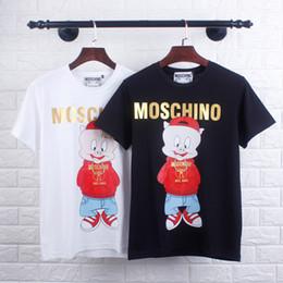 Estate più recente popolare T-shirt Leisure Hot stile lettera T-shirt moda uomo e donna doppia bambola cartone animato maniche corte MOSCHINOs da l bambole fornitori