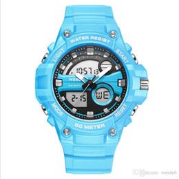 relógios de pulso sports weide Desconto Weide relógio de quartzo eletrônico de dupla função multi-função dos homens 50 M importado Japão movimento moda esportiva relógio