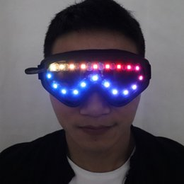 Sonnenbrille entfernt online-Vollfarb-Smart-Pixel-LED-Brille, Luminous Party Sonnenbrille, Fernbedienung Farbwechsel Gläser eingebaute 200 Effekte