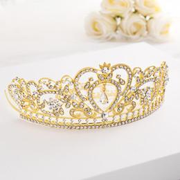 Pequenas coroas on-line-Livre DHL Cristal Tiara Crown Jóia elegante cabelo para as mulheres das senhoras nupcial Meninas Noiva Princesa Partido Aniversário da Rainha Headband O126FZ