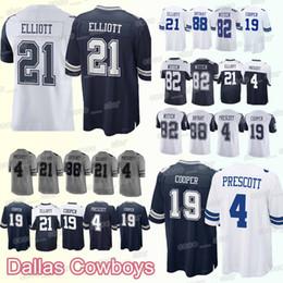 399530ebfe7 Dallas 66 Cowboys jersey 55 Leighton Vander Esch 21 Ezekiel Elliott 19  Amari Cooper 88 Dez Bryant 4 DP men jerseys