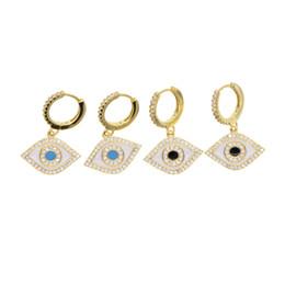 2019 altın dolu şanslı türk nazar takı emaye nazar cazibesi Güzel sevimli kız kadın moda muhteşem hoop küpeler cheap evil earrings nereden kötü küpeler tedarikçiler