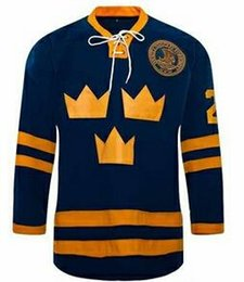 2019 trikot nummer 21 # 21 Peter Forsberg Trikot Team SCHWEDEN Eishockey Trikots Stithed Sewn Blue Custom Ihre Name Nummer bestickt rabatt trikot nummer 21